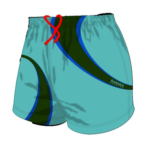 Custom, Bespoke Rugby Short Design 420 Front - Badger Rugby