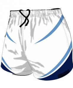 Custom, Bespoke Rugby Short Design 422 Front - Badger Rugby