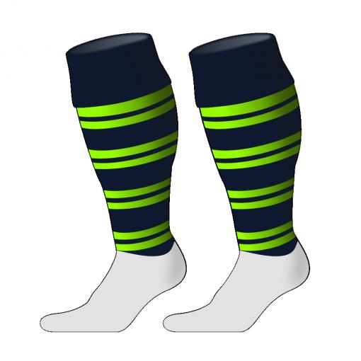Custom, Bespoke Rugby Sock Design 253 - Badger Rugby