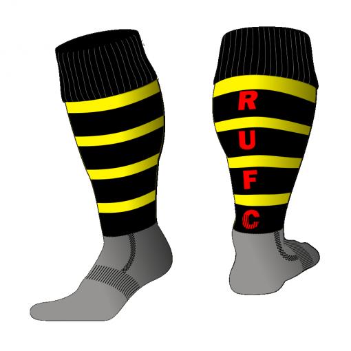 Custom, Bespoke Rugby Sock Design 516 - Badger Rugby