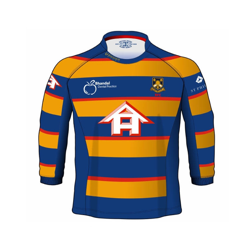 low priced e43f6 f0be8 Old Halesonians RFC Supporters Childrens Long Sleeve Replica Rugby Shirt